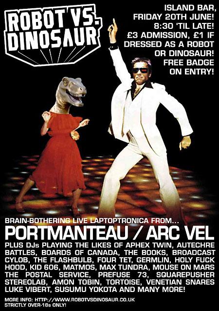 Robot Vs Dinosaur - Friday 20th June