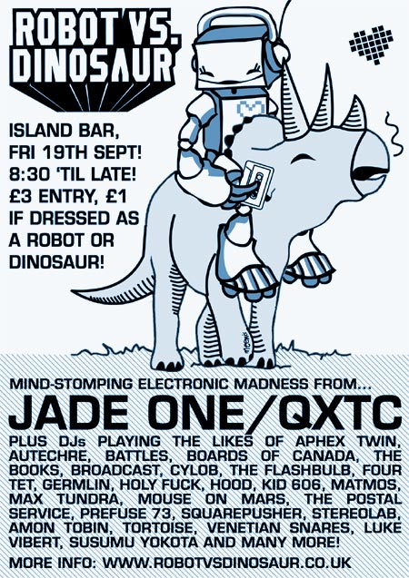 Robot Vs Dinosaur - Friday September 19th